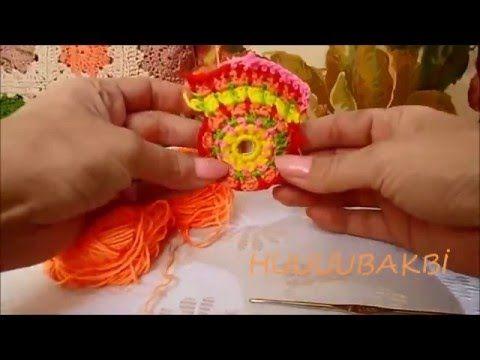BASİT MANDALA,crochet mandala,crochet color
