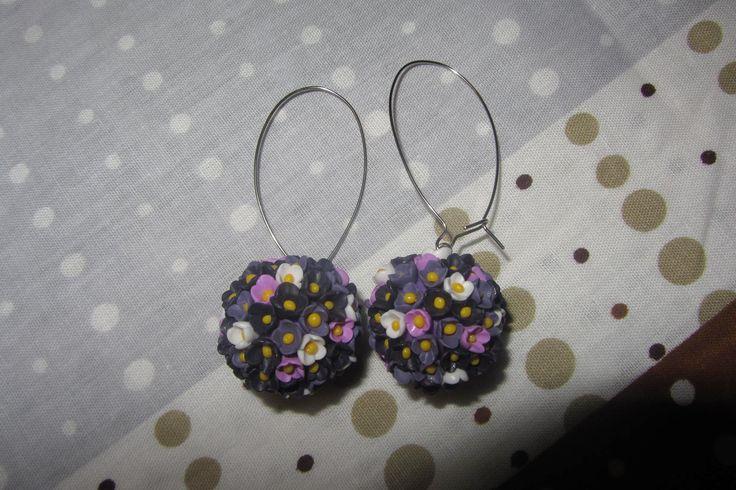 flower ball earings/ серьги цветочные шары