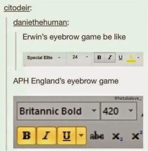 Fandom Eyebrow Game >> that moment when you get the joke