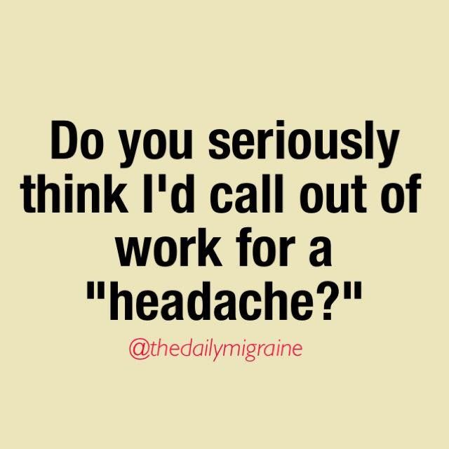 47 best Migraine and Work images on Pinterest Career and Ferris - how to call out of work