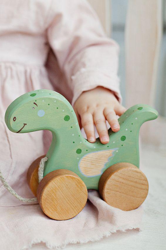 """Natural Wooden Rattle /""""Rabbit/"""" Birch Children Kid Toy Baby"""