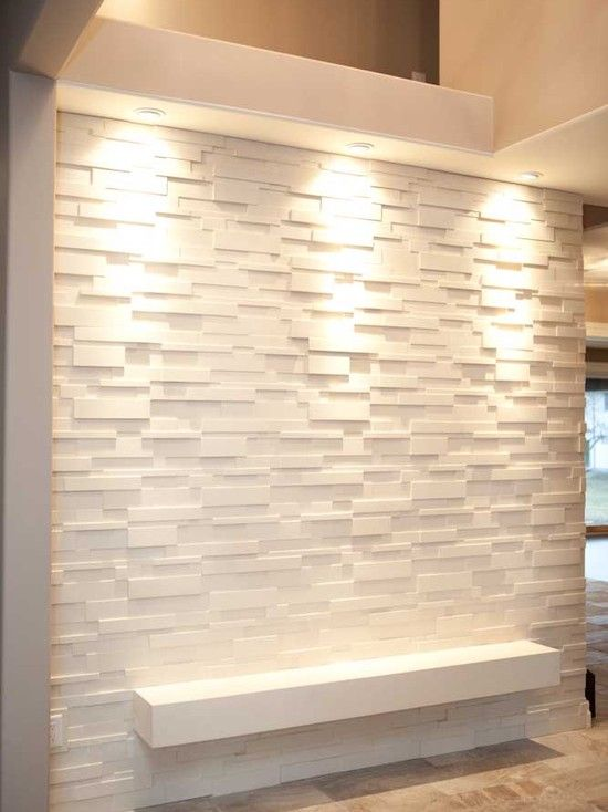 Modern entry feature walls and modern on pinterest for Feature wall tile ideas