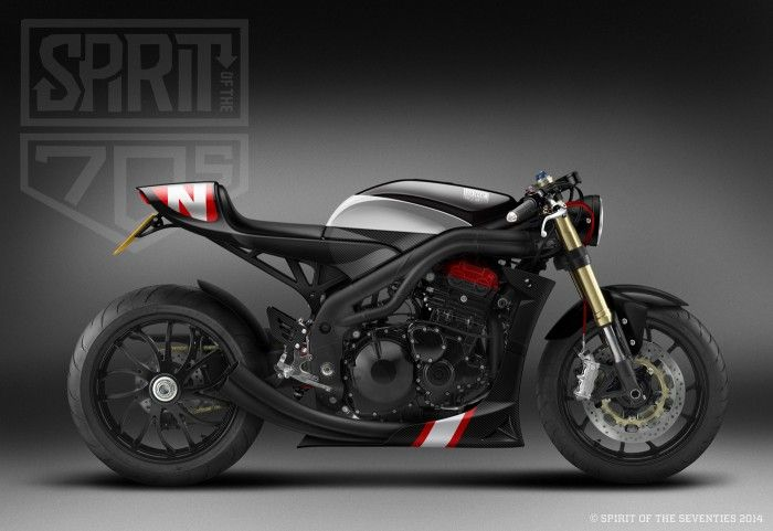 Speed Triple Spirit of the 70s #triumph. #motorcycles