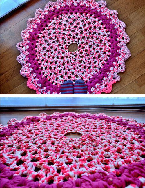 Diy tutorial alfombra de ganchillo xl madame cr chet - Tutorial alfombra trapillo ...