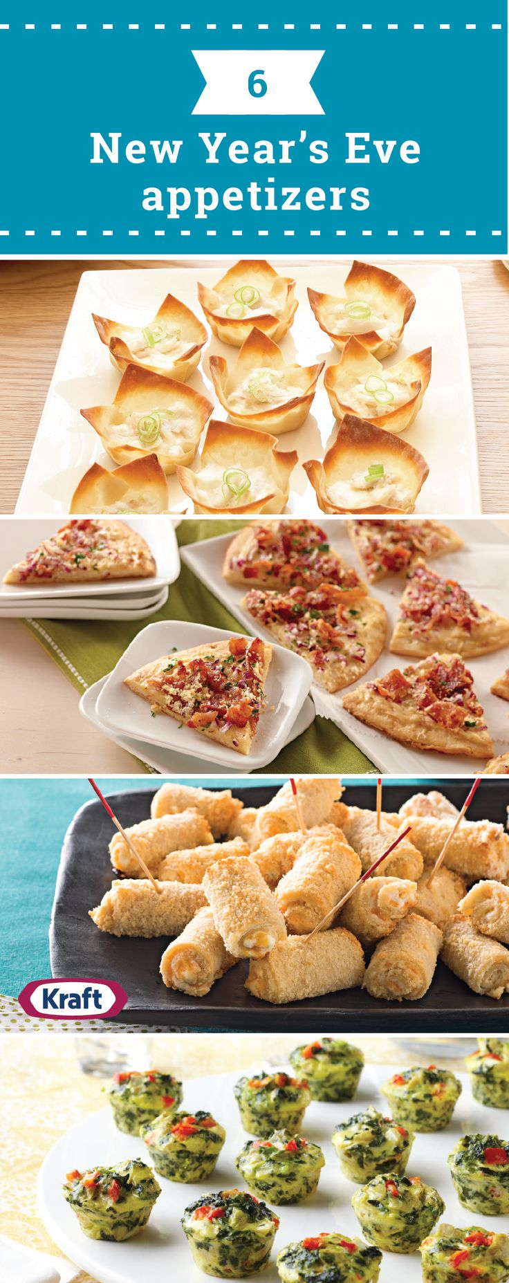 6 New Year's Eve Appetizers – Celebrate the new year with friends, family and these tasty appetizer ideas! With recipes like Cheddar-Jalapeno Bites, Baked Crab Rangoons, and everything in between, you're sure to find the perfect savory dish to ring in the new year.