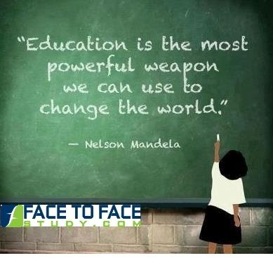 #Education is The Most Powerful #Weapon for Changing the World Get your weapon Here