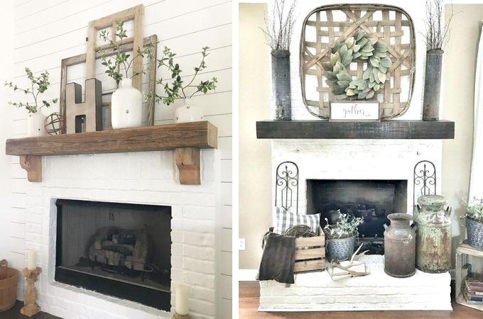 Fireplace Mantle Decor, Decorating Fireplace Mantel Farmhouse Style