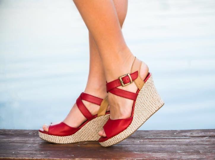 Hand made shoes : Кожаные туфли на танкетке