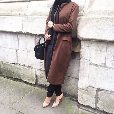 INAYAH | Tan Brown #Coat + Black Shirt #Dress www.inayahcollection.com Check out our collection http://lissomecollection.co.uk/