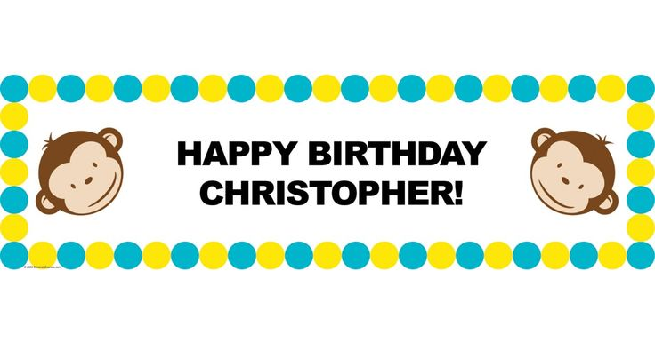I found this great Birthday Party idea on BirthdayExpress.com. Mod Monkey Personalized Vinyl Banner, Birthday Express helps create memories that last a lifetime - click here to start the fun!