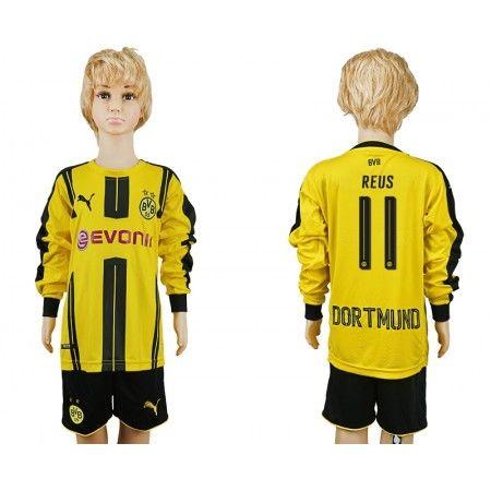 BVB Trøje Børn 16-17 Marco #Reus 11 Hjemmebanetrøje Kort ærmer,199,62KR,shirtshopservice@gmail.com