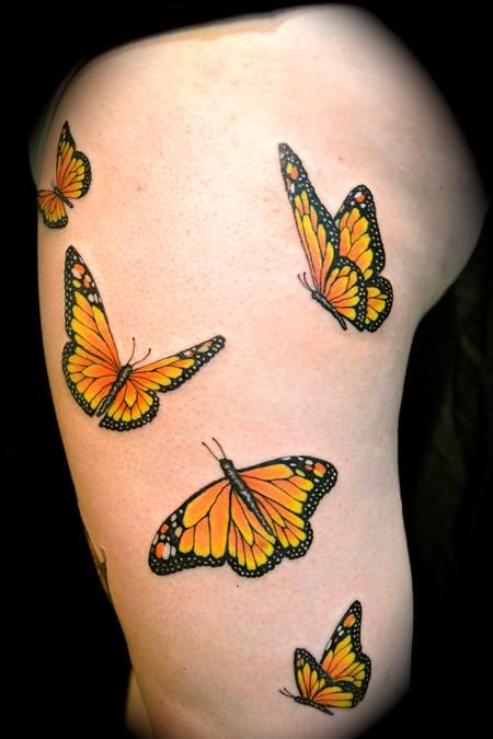 Monarch Butterfly On Flower Tattoo 22 best Monarch Butter...