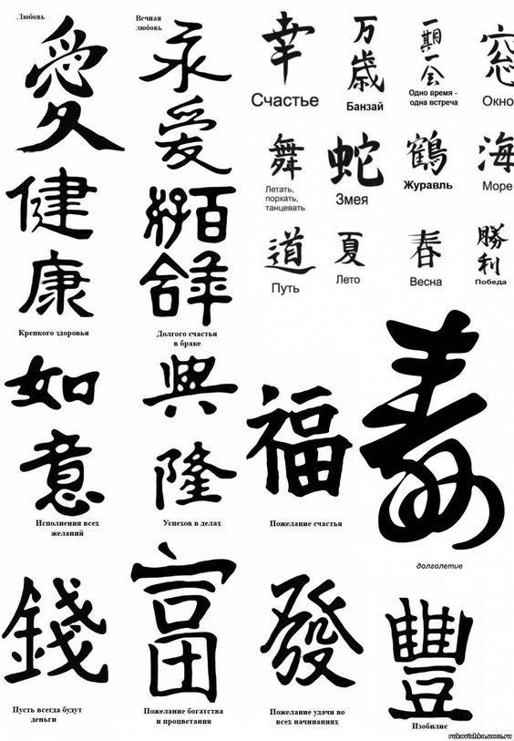 Китайские иероглифы и их значение - 688: