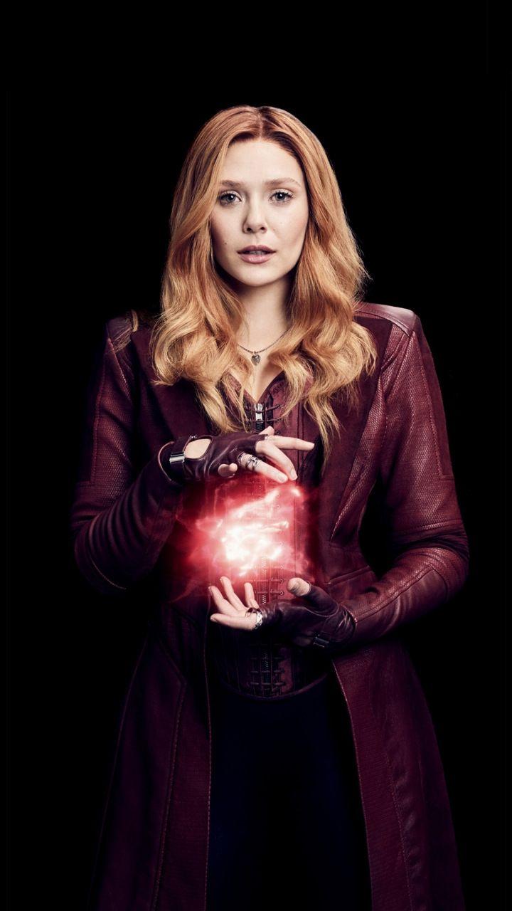 Wanda maximoff, Scarlet Witch, Elizabeth Olsen, Avengers: infinity war,  720x1280 wallpaper   Feiticeira escarlate, Escarlate marvel, Marvel