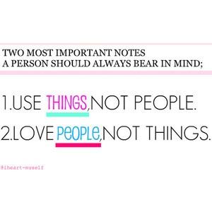 Don't be selfish