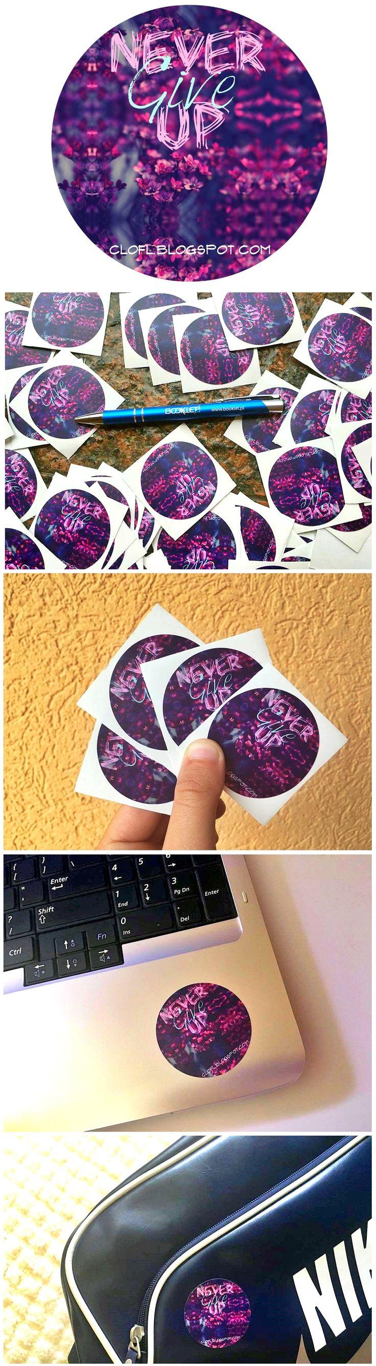 Naklejki / vlepki promocyjne dla blogerów, wykorzystywane w promocji bezpośredniej oraz podczas konkursów   Promotional #stickers for bloggers