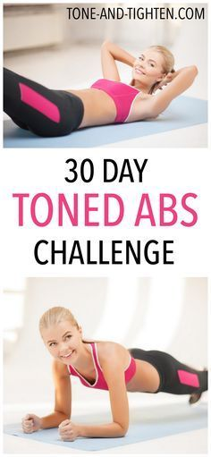 30 Day Toned Abs Challenge on Tone-and-Tighten.com30 Day To