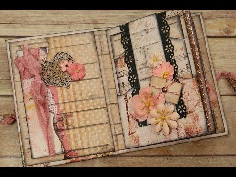 Simple & Quick Embellishing for Mini Album Pages - YouTube