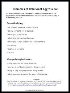 Examples of Relational Aggression - Printable Handout