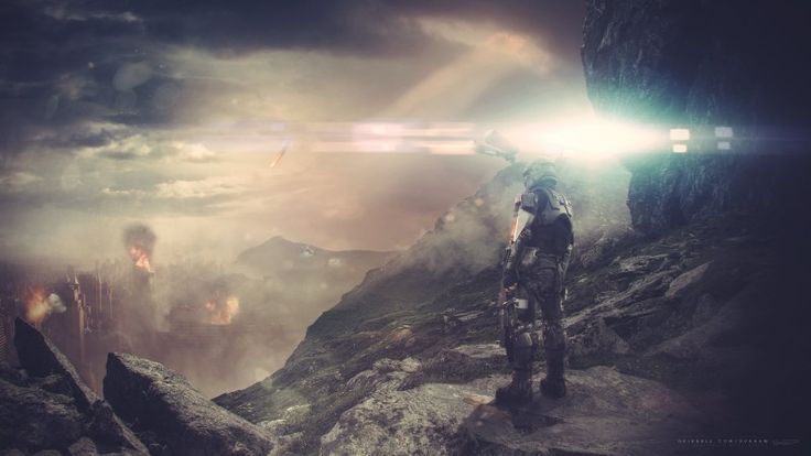 Halo 5: Guardians, game, fps, sci-fi, battle, sky, light, rocks, soldier, screenshot, What Lay Ahead, , 4k, 5k, PC, 2015