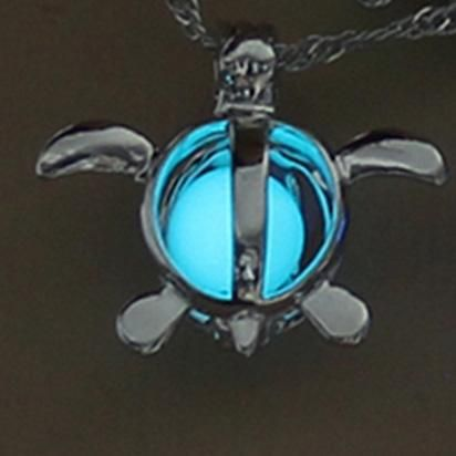 Luminous Turtle Pendant