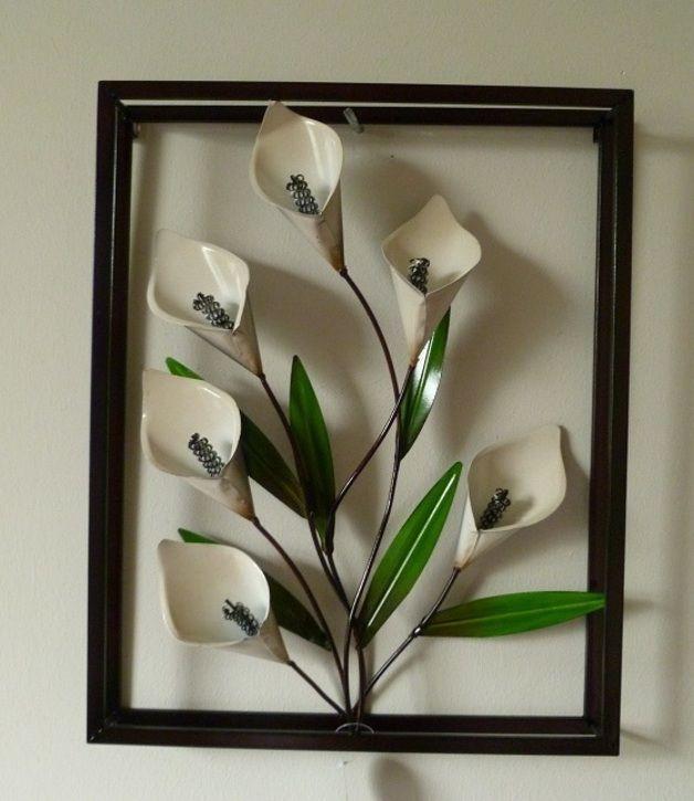10 best images about wanddekoration on pinterest vase - Wanddeko metall abstrakt ...