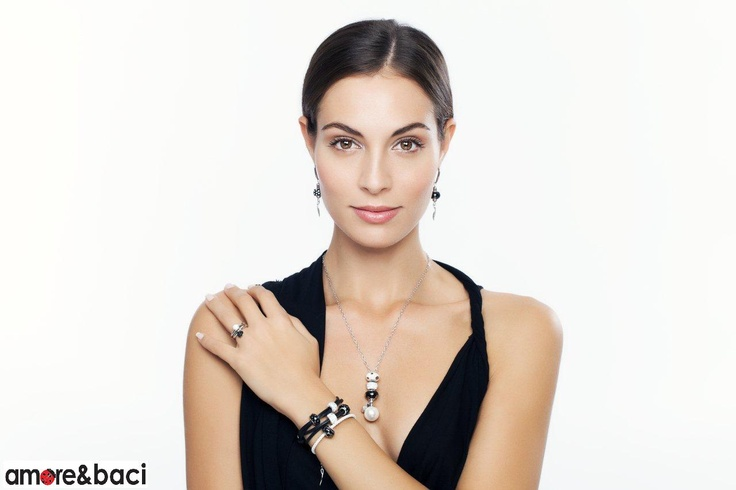 Amore & Baci 2013 campaign - BLACK and WHITE beads - necklace, bracelets, earrings, rings