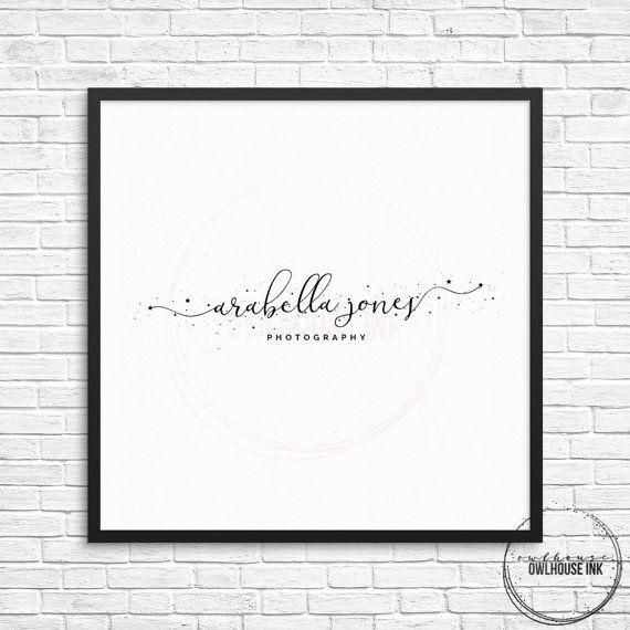 Premade Logo Design / Watercolor Logo / Photography Logo / Business Logo / Small Business Logo / Watercolour Logo / Wedding Logo / Watermark