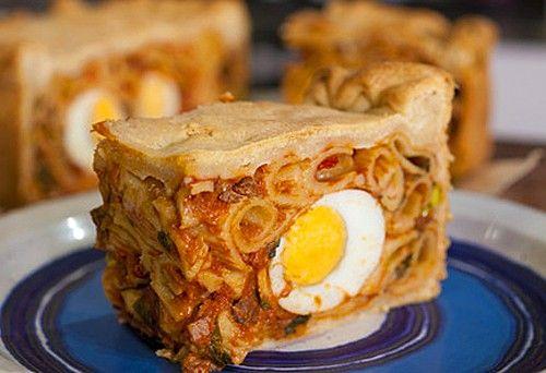 Итальянский голубиный пирог с пастой