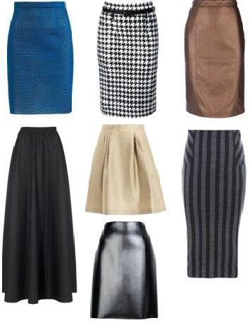 Тип фигуры Груша правильные юбки