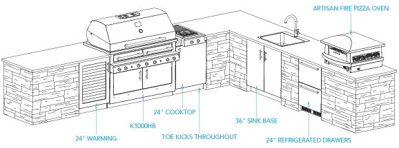 sample outdoor kitchen plan - aspen layout | house ideas