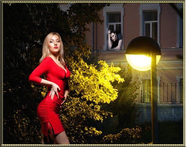 Романтические стихи про красное платье