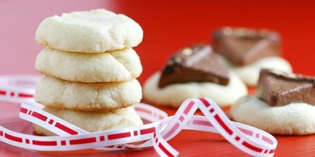 Shortbread Cookies Recipe. I made these and they are so good. It's a really easy recipe too. Nothing to roll out, just drop them on the cookie sheet and bake. I bake them for 16 minutes which was more than enough. I will make these for many Christmases to come