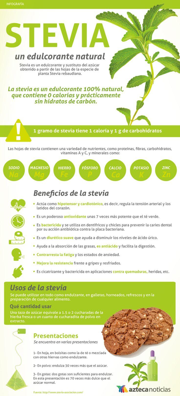 STEVIA, un edulcorante natural #infografia