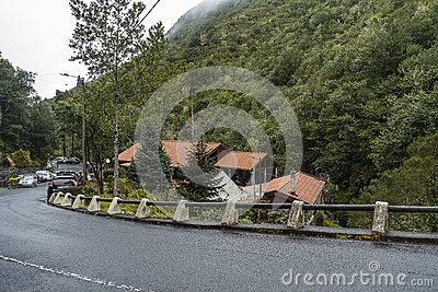 Small village in Nation Park Ribeiro Frio on Madeira Island , Portugal. Europe . Place full of fish restaurants .