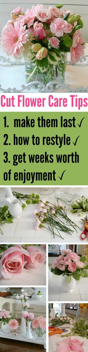 tips and ideas on how to make floral arrangements last (PLUS how to restyle the good flowers when others start to fade)