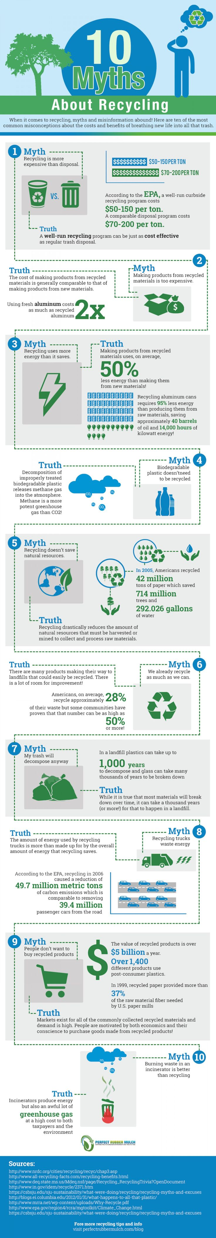 10 Myths About Recycling Infographic