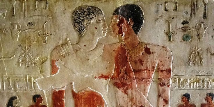 ''Homosexuality in the Ancient World''. My new awesome YouTube playlist on https://www.youtube.com/playlist?list=PLkabqKbOJMGflxGtGaQVSaaU5zCto0h1w  Source for the image: http://raseef22.com/en/culture/2017/04/12/many-faces-homosexuality-ancient-egypt/ You may read the interesting article on the same page of the image on http://raseef22.com/en/culture/2017/04/12/many-faces-homosexuality-ancient-egypt/