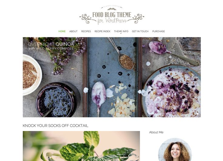 15 best foodie blogs themes images on pinterest best wordpress best food blog wordpress themes free premium 2015 forumfinder Gallery