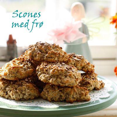 Grove scones med frø og havregryn #healthy #bakepulver #baking_powder #quickbread #havregryn #oats #seeds #breakfast #broed #bread #rolls #rundstykker #frukost #frokost