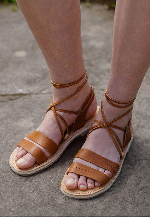 Gladiator sandalen Lace up sandalen Griekse sandalen
