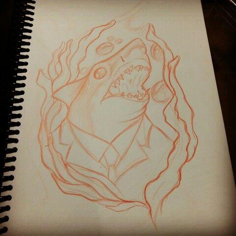 Shark new school draw