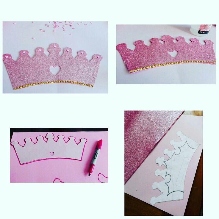 Coronas para cumpleaños golden and pink princess