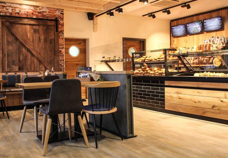 Bäckerei • Sangermann • Café • Industrial/ Industrie • Rustikal • rustic • Olpe • Interieur • Bakery • Theke • Scheunentor • Ladenbau • Design • Walterscheid Projektschmiede