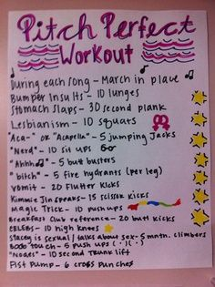 Pitch Perfect Movie workout