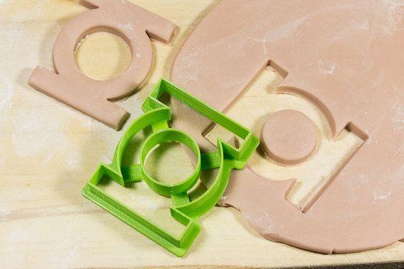 Green Lantern Cookie Cutter Fondant Cutter 3D by TeptecStudios