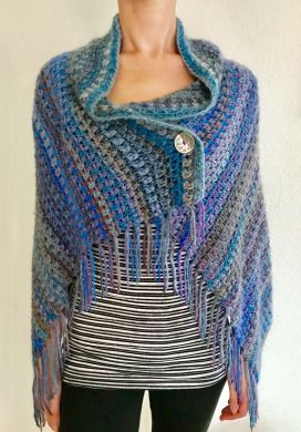 Thistle Wrap - free crochet pattern at Creating Time.