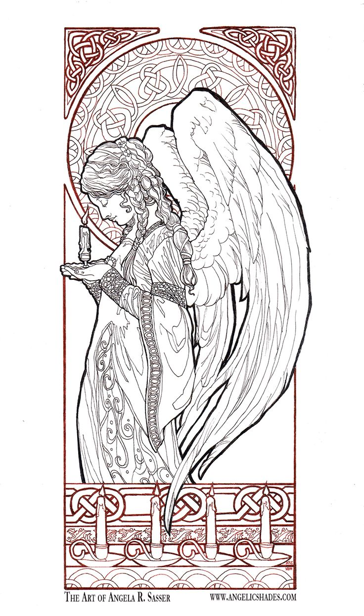 Christmas Angel Line Art By AngelaSasserdeviantart On DeviantArt Download A Free
