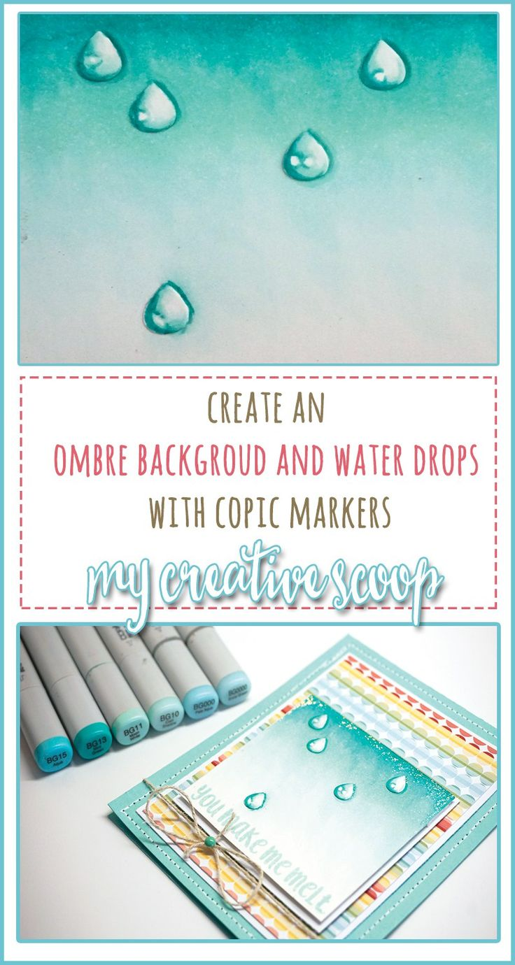 Create Water Drops using Copic Markers -- Tutorial using Paper Smooches stamps and dies.