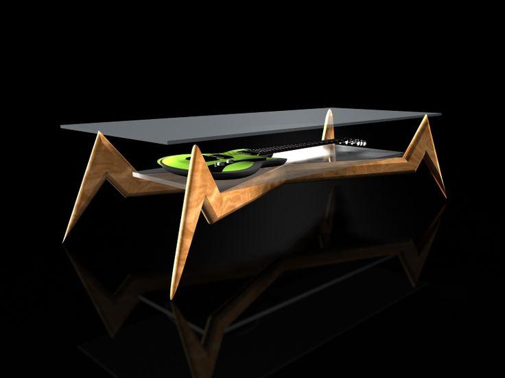 #spiderspider #guitar display #table design by #murraykuun.com